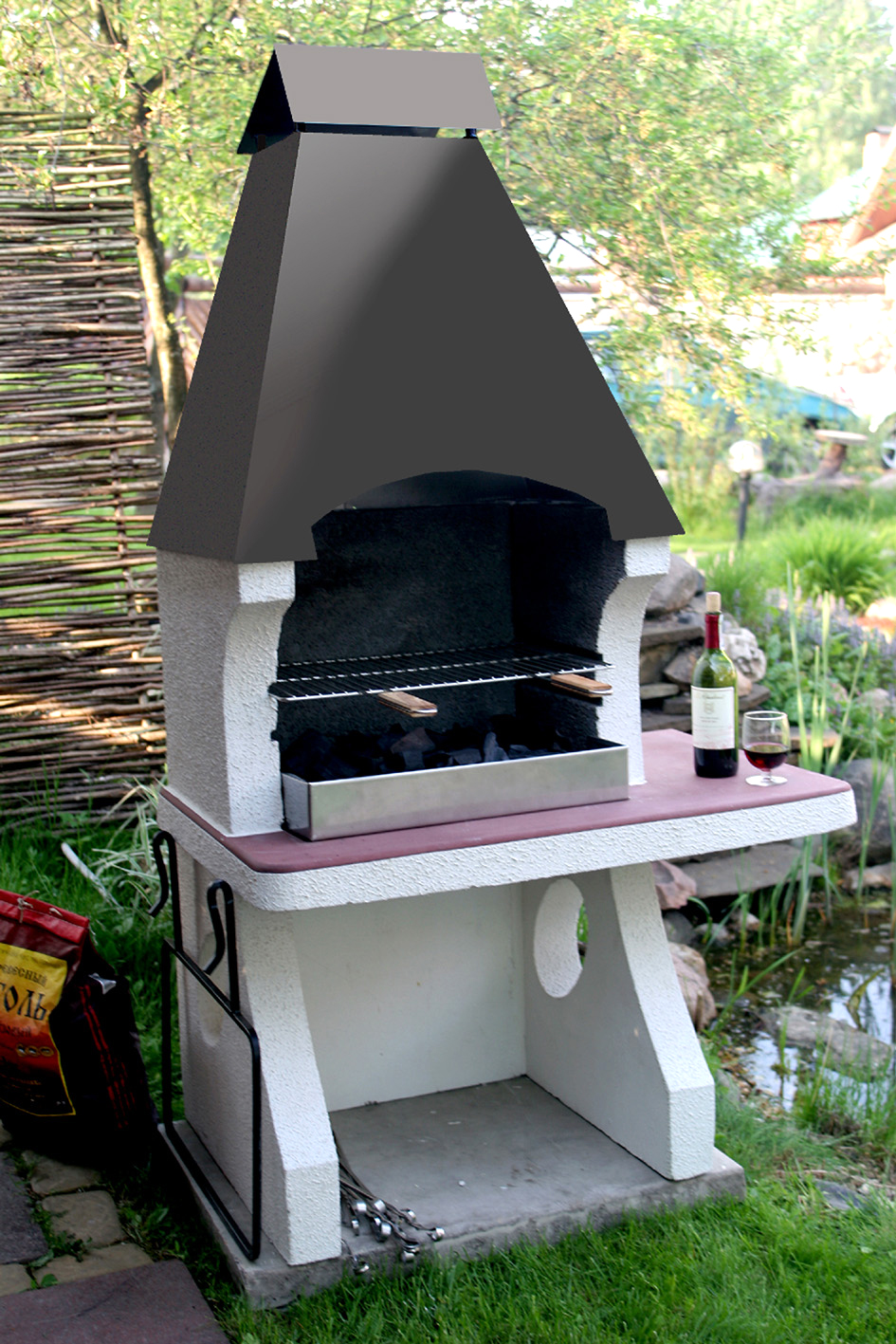 Купить печь для барбекю барбекю - мангалы металлические